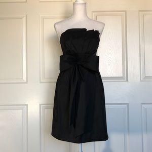 NWT Black tube top bow dress sz10